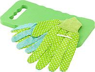 Zahradní set rukavic a pěnové podložky pod kolena