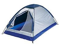 stan pro dvě osoby, modrá, stříbrná