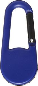 Plastový kompas s plastovou karabinou, modrý