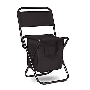 Skládací židlička s batohem, černá
