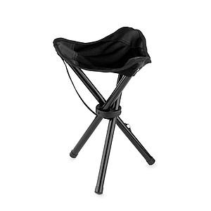 Skládací sedátko, trojnožka, černá