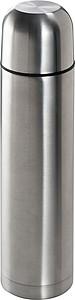Dvouplášťová termoska z ušlechtilé oceli, 1 l, stříbrná