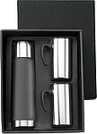 HYSON Sada termoska (0,5 l) a 2 hrníčky (0,3l), černá