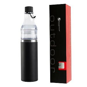 SCHWARZWOLF DOMINIKA termoláhev - set 400+ 200 ml, černá reklamní zapalovač