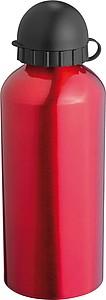 Velká hliníková láhev, 0,6 l, červená