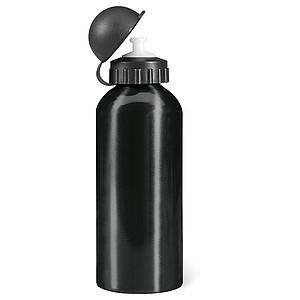 Kovová jednostěnná láhev, 600ml, černá