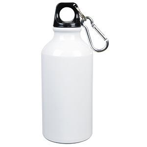 Hliníková láhev na pití, 0,4 l, bílá