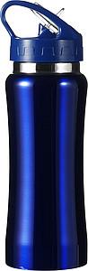 HIMASA Nerezová láhev na pití o objemu 600 ml, modrá