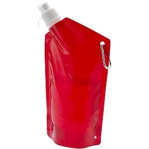 skládací láhev na vodu, objem 600 ml, červená