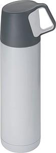 Bílá termoska 500ml s víčkem s uchem