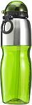 Sportovní láhev, nerez a transp. zelený plast, 800ml