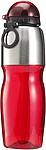 SPEDR Sportovní láhev, nerez a transp.červený plast, 800ml