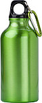 KYLBAHA Kovová láhev na pití, 0,4 l, s karabinou, zelená
