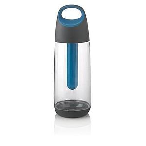 Chladící láhev na pití, transparentní, modrá