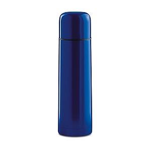 Lesklá nerezová termoska, objem 500 ml, modrá