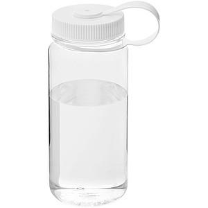 Průhledná plastová láhev se šroubovacím víčkem 650 ml, bílá