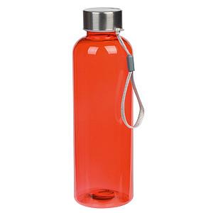 Čirá láhev na pití s barevným nádechem, objem 550 ml, červená