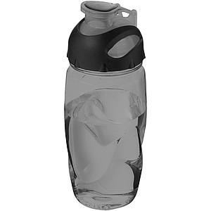 Sportovní plastová láhev, transparentní šedá