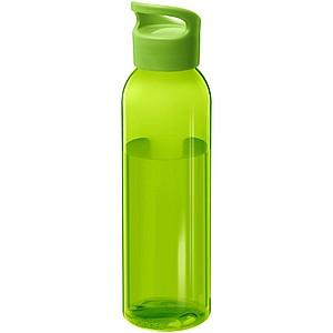 Plastová láhev s netradičním šroubovacím víčkem, zelená