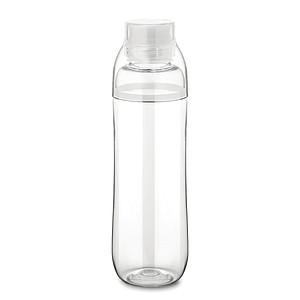 700 ml láhev na pití z Tritanu. Obsahuje malou skleničku na vrchu, bílá