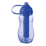Láhev na vodu 400 ml s chladící vnitřní částí, transparentní modrá