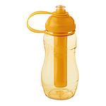Láhev na vodu 400 ml s chladící vnitřní částí, transparentní oranžová