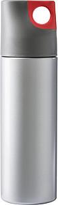 HEMAN Dvoustěnná láhev, 500 ml, šedočervená