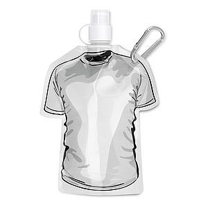 Skládací láhev ve tvaru trička, bílá