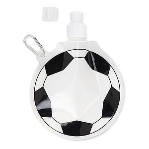 Skládací láhev ve tvaru fotbalového míče, bílá/černá