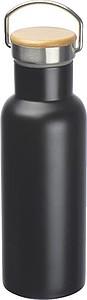 Nerezová láhev na pití, objem 500ml,černá