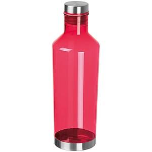 Průhledná láhev na pití z tritanu, objem 800ml, červená