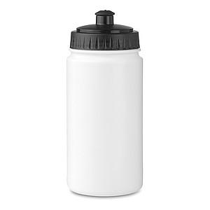 Sportovní láhev na pití 500ml, bílá