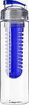 LEDOR Transparentní láhev na pití 650ml, s modrým sítkem na ovoce