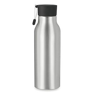 Hliníková lahev na pití jednoplášťová, 500 ml. S hliníkovým poutkem, černá