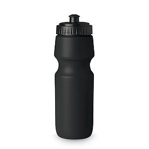 Sportovní lahev na pití z pevného plastu. 700 ml, černá