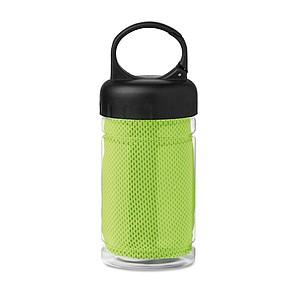Láhev se sportovním ručníkem z mikrovlákna, zelená