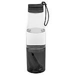 Sportovní láhev s úložným prostorem, transparentní černá