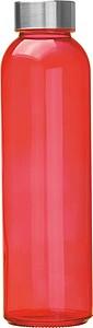 Skleněná láhev na pití, 500ml, červená