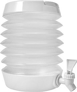 Skládací plastová nádoba na pití, objem 3,5 l, bílá