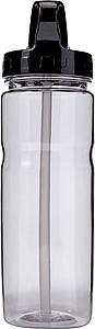 BERELA Transparentní láhev na vodu o objemu 550 ml, černá