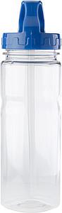 BERELA Transparentní láhev na vodu o objemu 550 ml, modrá