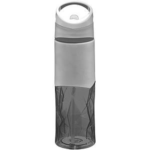 Plastová sportovní láhev s geometrickým designem, šedá