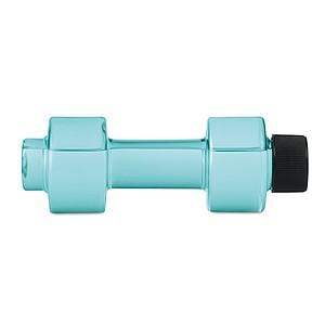 POSILKA Plastová láhev na pití ve tvaru činky, objem 500 ml, světle modrá