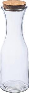 Skleněná láhev s korkovým víkem 1L,trasparntní