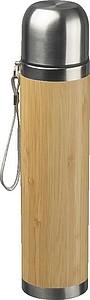 Termoska s bambusovým potahem 500 ml,béžová