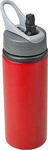 LORTA Hliníková láhev na pití o objemu 750 ml, červená