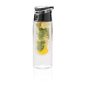 Láhev na pití se sítkem na ovoce, 700ml, transparent