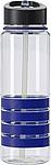 SALISA Tritanová láhev o objemu 700 ml s barevnými proužky, modrá