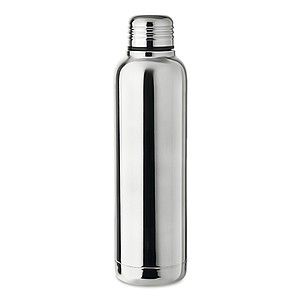 Dvoustěnná nerezová termoska s izolačním vakuem, 500 ml, v lesklém vzhledu, stříbrná