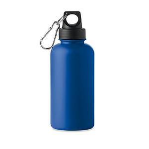 Plastová láhev na pití, 500ml, na víčku je karabinka, modrá